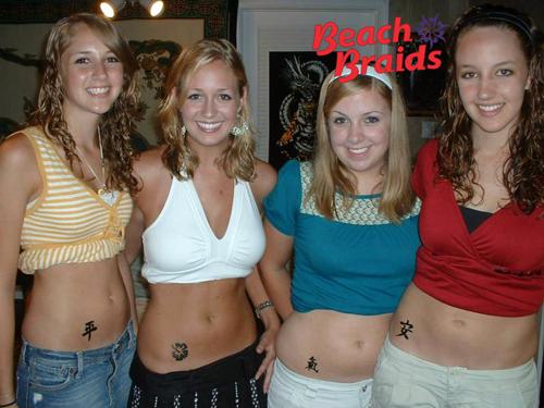 Corolla Temporary Tattoos at Beach Braids