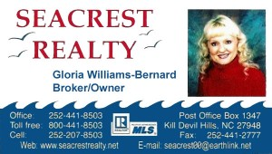 Seacrest Broker, Outer Banks, Gloria Williams Bernard