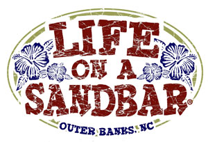 LIfe on a Sandbar bumper stickers Outer Banks