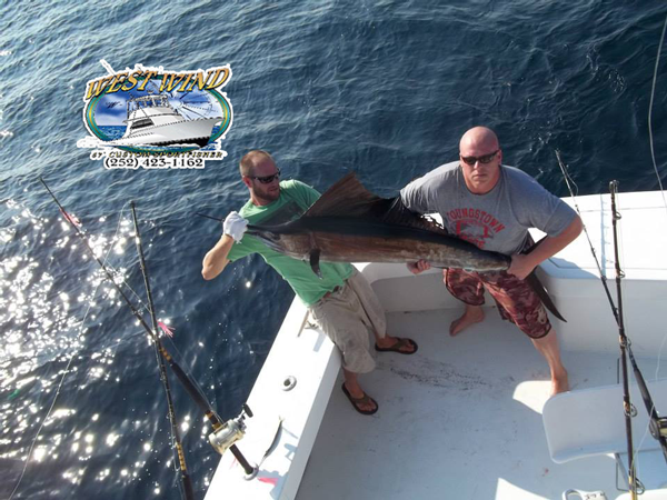 OBX Deepsea Fishing Charters on the West Wind with Captain Olan West