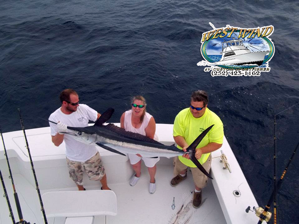 Outer Banks Swordfish Charters on the West Wind with Captain Olan West