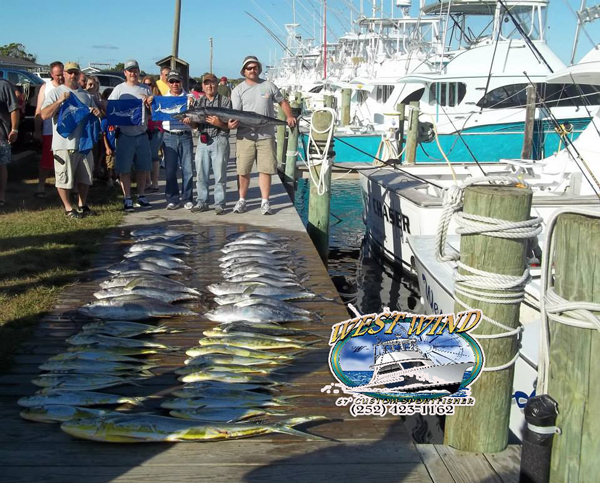 Outer banks fishing charter on the west wind the best for Fishing charters outer banks