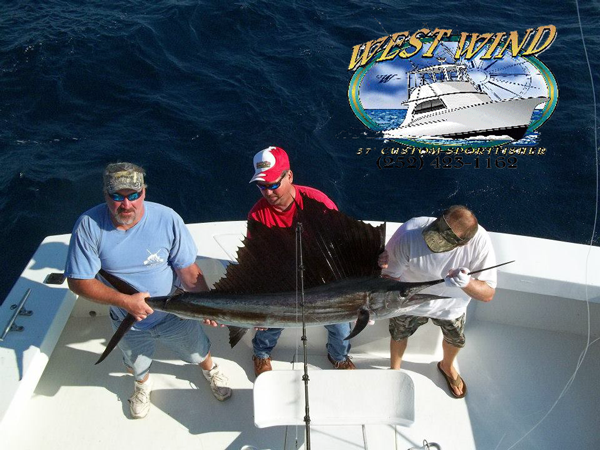 Outer Banks SportFishing Charters on the West Wind with Captain Olan West