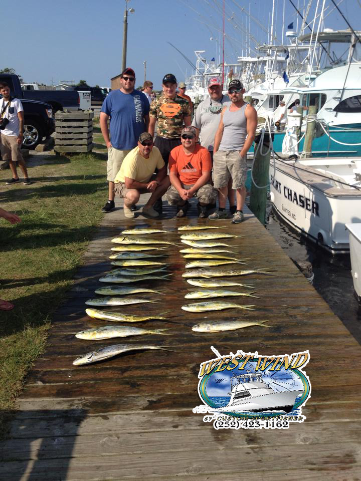 North Carolina Gulfcoast Deepsea Fishing Charters on the West Wind with Captain Olan West