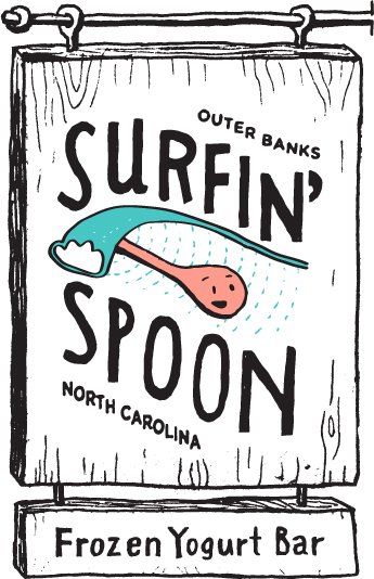 Surfin Spoon Frozen Yogurt Bar in Nags Head
