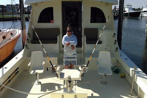 Captain Brain White Waveruner Fishing Charter Outer Banks