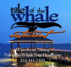 Waterfront dining in Nags Head at Tale of the Whale