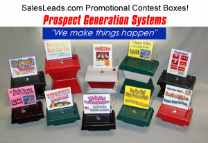 Contest Boxes for Sales Leads