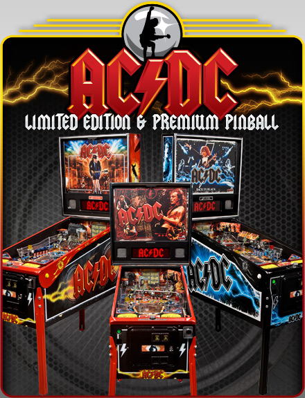 ACDC Pinball Game at Flippers Arcade Grandy NC