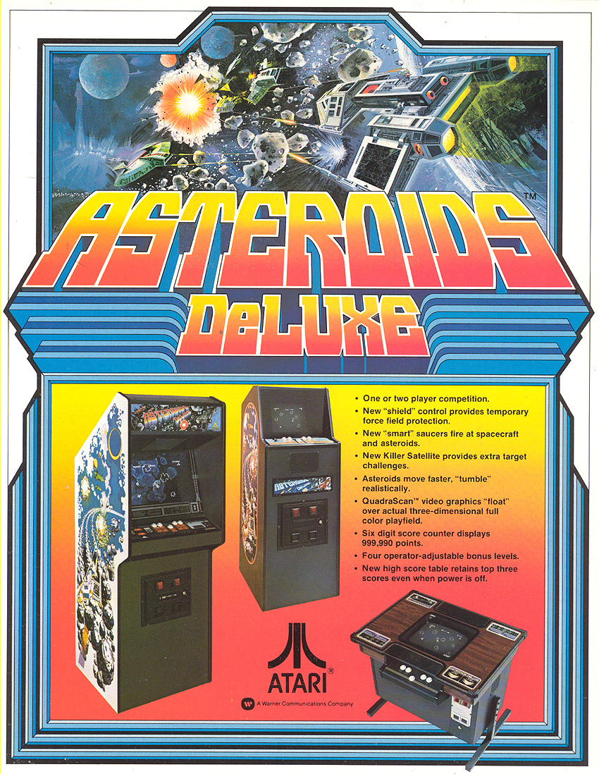 Asteroids Deluxe Video Arcade Game
