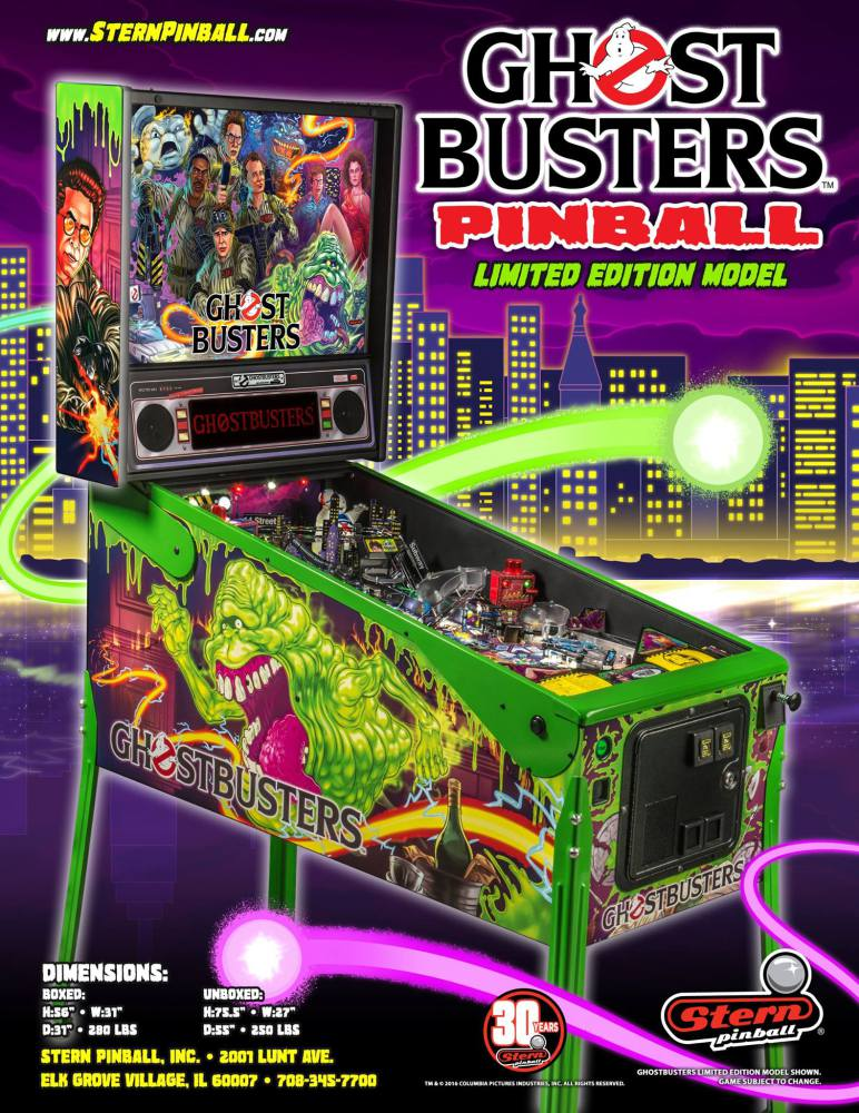 Stern Ghostbusters Pinball Game at Flippers Arcade Grandy NC