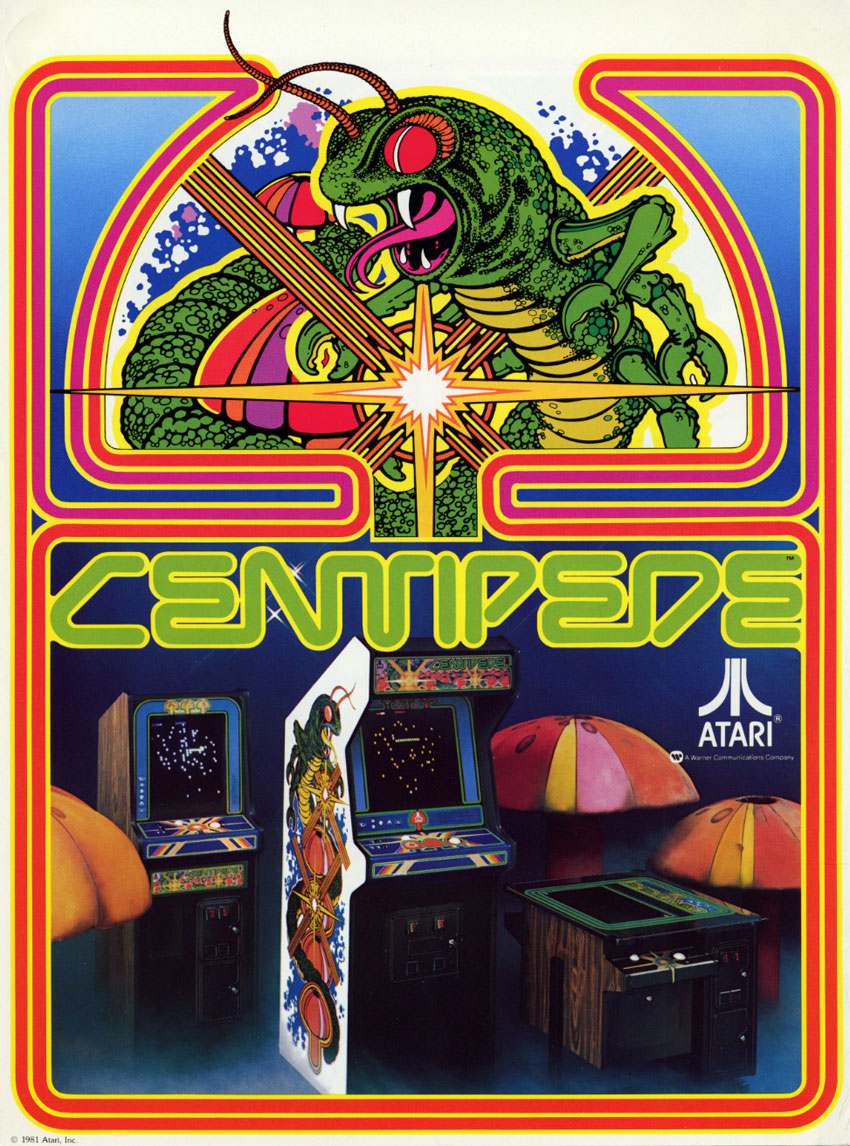 Centipede Video Arcade Game