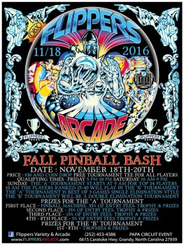 Fall Bash Pinball Tournament Pre-Registration