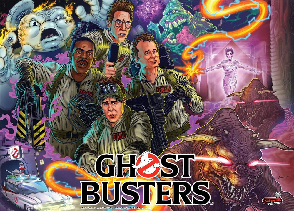 Ghost Busters Pinball Arcade at Flippers in Grandy NC
