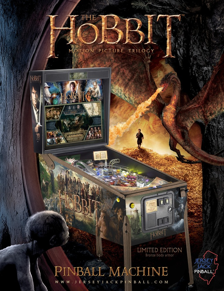 Hobbit Pinball Arcade at Flippers in Grandy NC