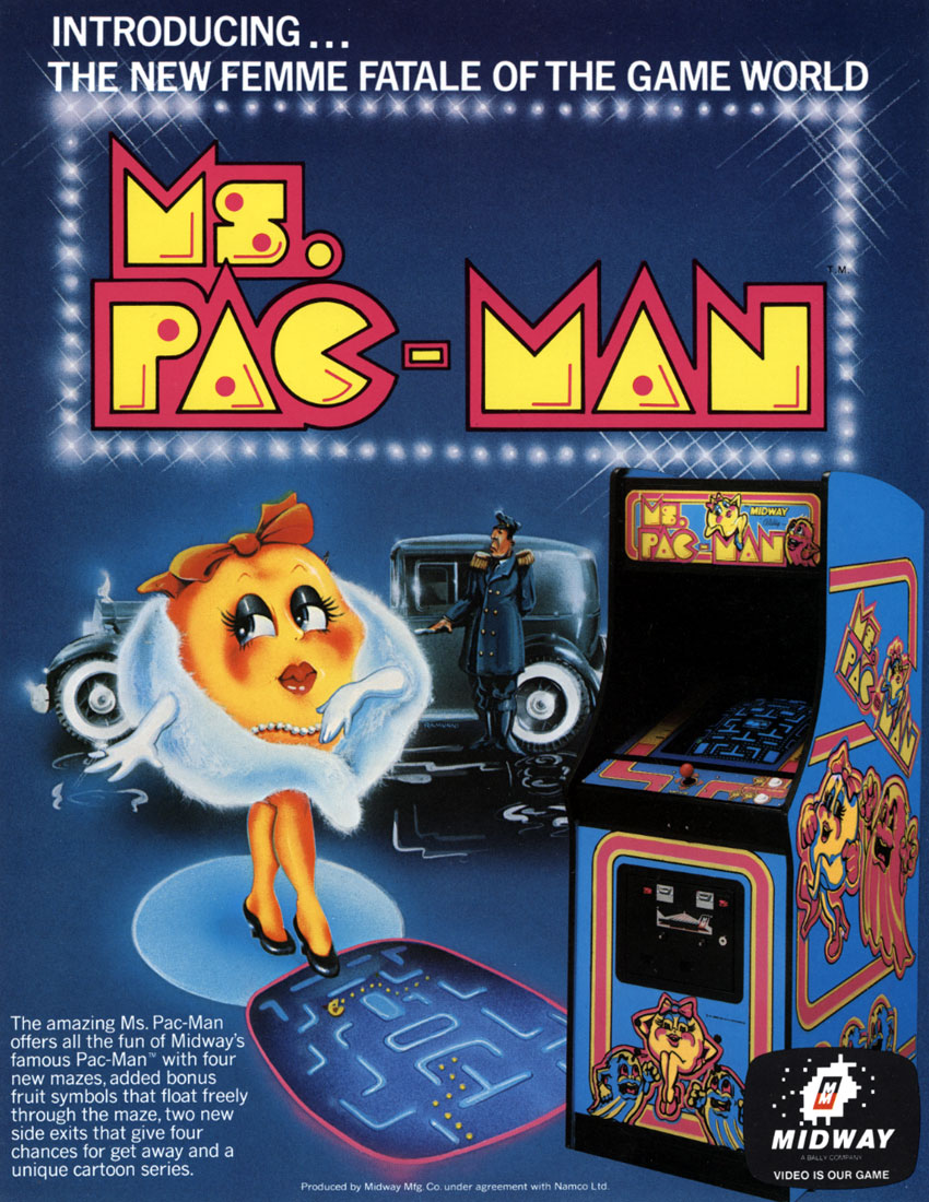 Ms Pacman Video Arcade Game