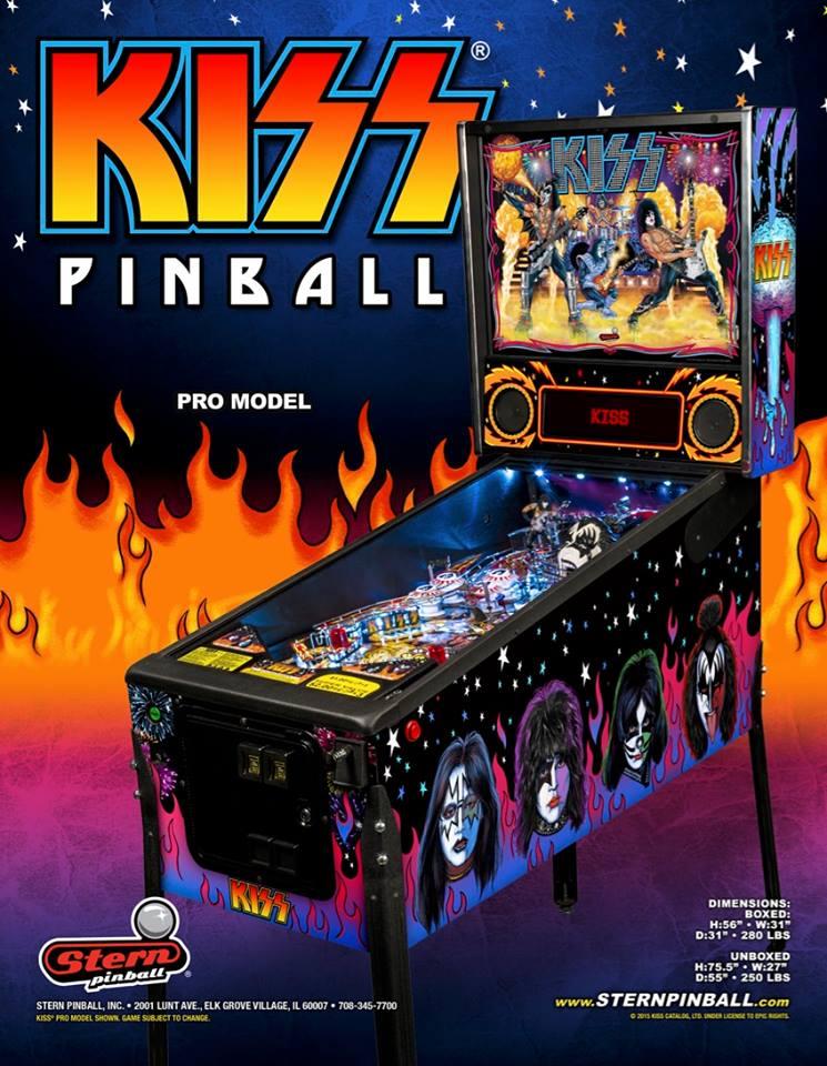 Kiss Pinball Game at Flippers Arcade Grandy NC