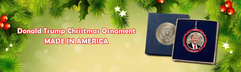 Donald Trump christmas ornament
