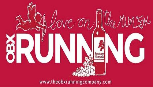 Outer Banks Running Company Love on the Run Valentine's Day 5k