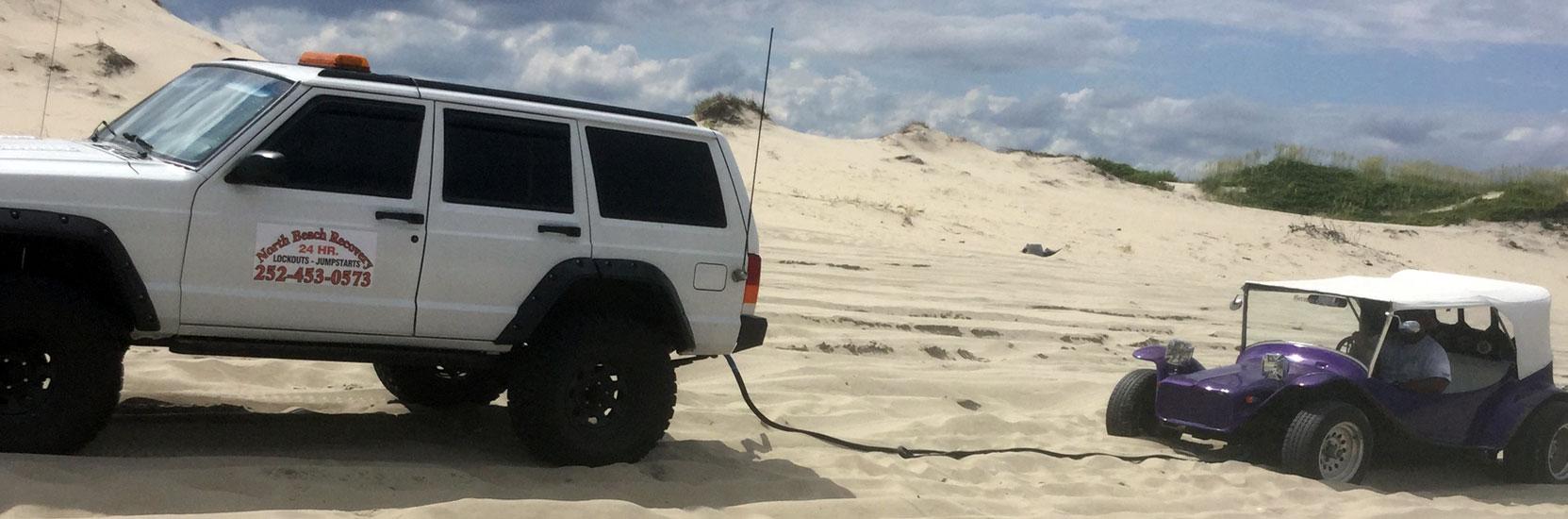 Carova Beach Dune Buggy Towing