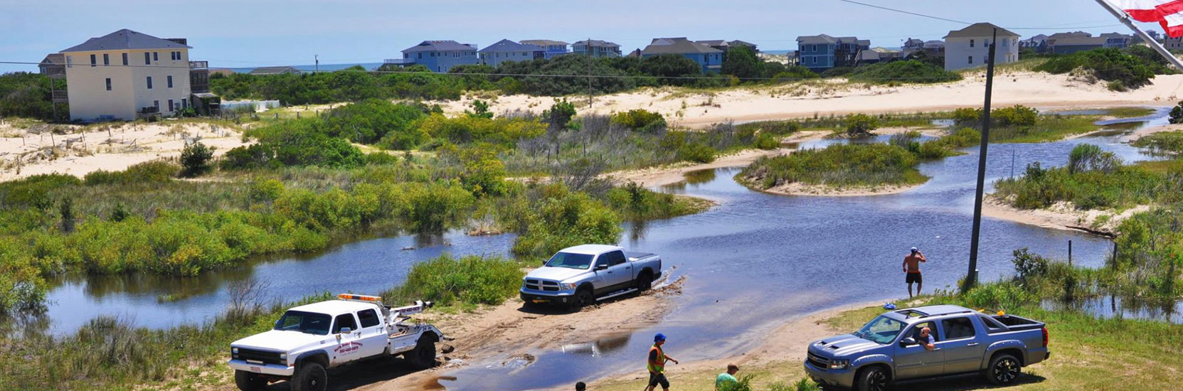 Carova Beach Towing Flood Recovery