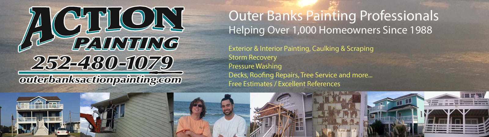 Action Painting OBX homeowners