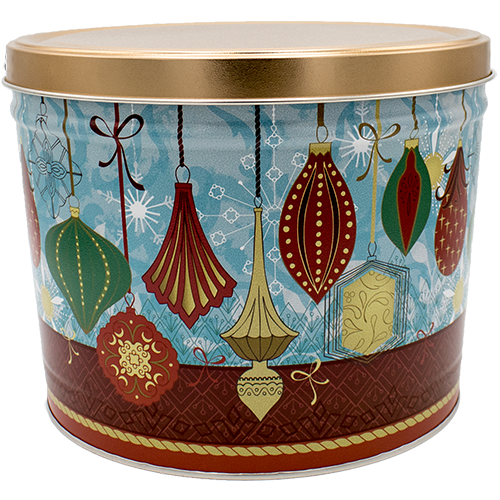 Ornament popcorn tin